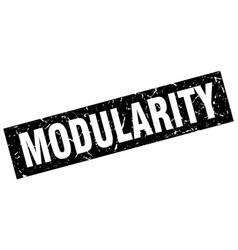 Square grunge black modularity stamp vector