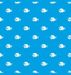 surgeon fish pattern seamless blue vector image