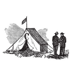 Tent vintage vector