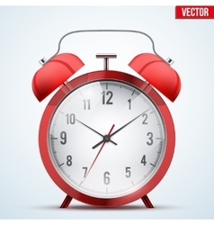 Traditional red alarm clock vector