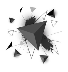 Triangle abstract on white background vector