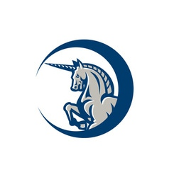 Unicorn horse prancing side vector