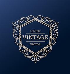 vintage luxury frame design vector image