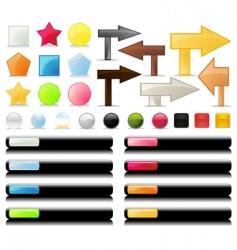 web UI vector image vector image