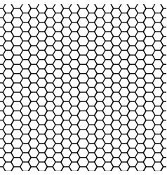 002 black and white basic hexagonal shape vector
