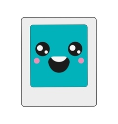Kawaii instant photo icon vector