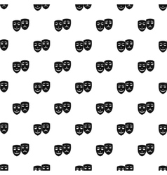 Comedy and tragedy masks pattern simple style vector image