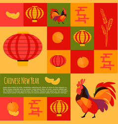 Chinese new year icons and buttons set vector