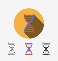 Dna modern flat icon vector
