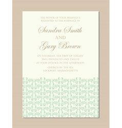Invitation green vector