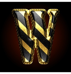 Golden and black letter w vector