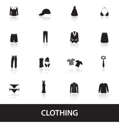 Clothing icons eps10 vector
