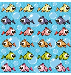 Background with fishes vector