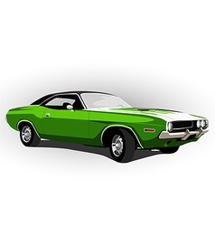 American muscle car green vector