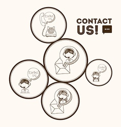 Contact us vector