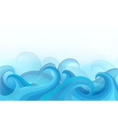 abstract background with stylized waves vector image