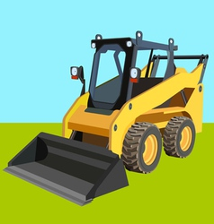 Skid loader industry background vector