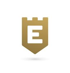 Letter e shield logo icon design template elements vector