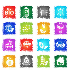alternative energy icon set vector image vector image