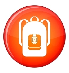 Backpack icon flat style vector