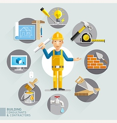 Building consultants contractors vector