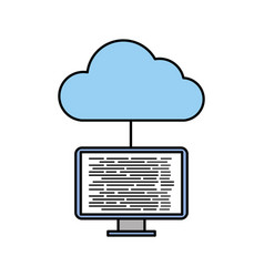 cloud computing programming and coding software vector image