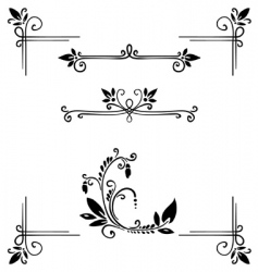 decor elements vector image