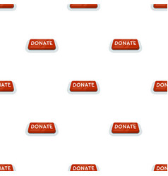 Donate button icon in cartoon style isolated on vector