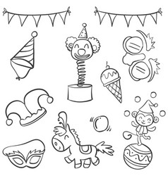 Doodle of circus object hand draw style vector