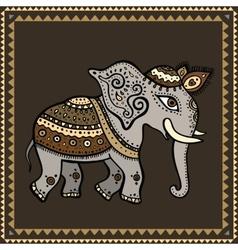 Ethnic elephant indian style vector