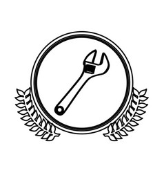 Figure symbol monkey wrench icon vector