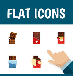 Flat icon bitter set of wrapper shaped box vector