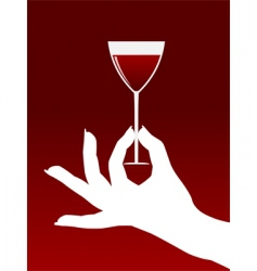 hand with glass vector image vector image