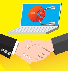 Handshake successful business deal vector