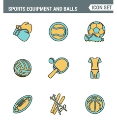 Icons line set premium quality of sports equipment vector