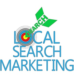 Local search marketing target seo vector