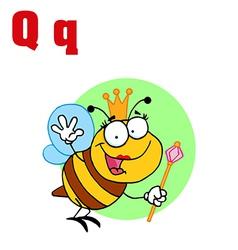Queen bee with letter vector