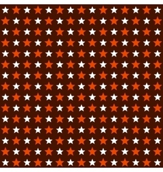 Seamless Red and White Stars Pattern Background vector image vector image