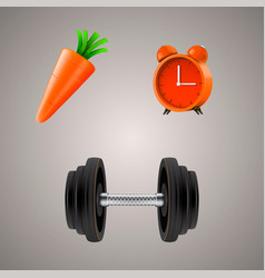 Set of sport diet vector