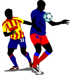 soccer players colored for designers vector image vector image
