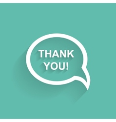 speech bubbles thank you flat design vector image vector image
