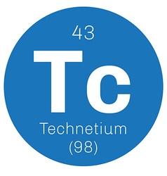 Technetium chemical element vector image vector image