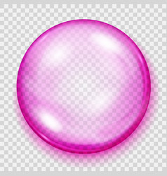 Transparent pink sphere with shadow vector