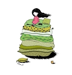 Princess on the pea vector