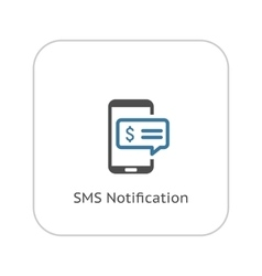 Sms notification icon flat design vector