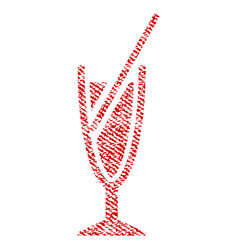 cocktail fabric textured icon vector image