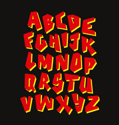Graffiti font editable alphabet vector