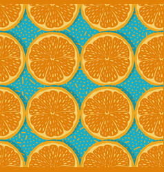 Seamless pattern oranges vector