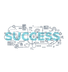 creative of success word lettering vector image
