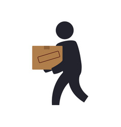 courier with delivery vector image